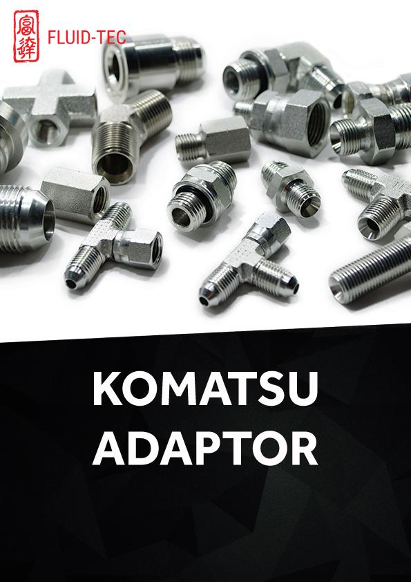 Komatsu Adaptor Fluid Tec Hydraulic Hose